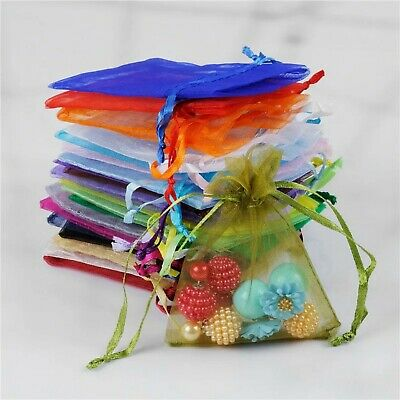 UK Luxury Organza Gift Bags Jewellery Pouch Wedding Party Candy Favour 4 Size