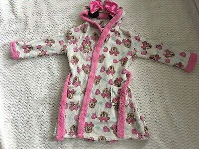 Minnie Mouse Warm Soft Fleece Dressing Gown. 5-6 Years.