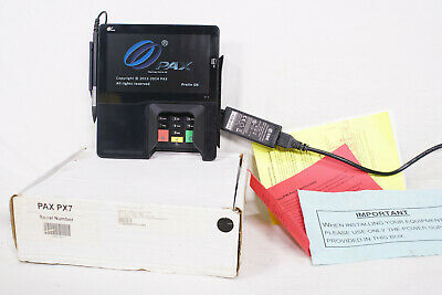 "PAX PX7 Retail PIN Pad Credit Card Reader Signature Capture Pad 7"" LCD Terminal"