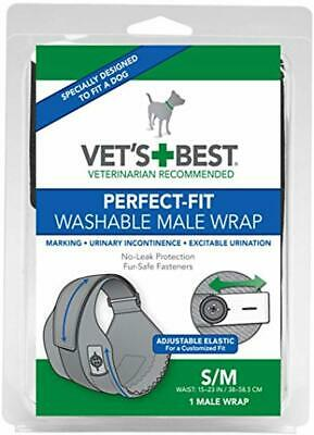 Vet's Best Washable Male Dog Diapers Absorbent Male Wraps with Leak Protection