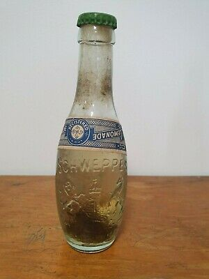 Schweppes Embossed Bottle with Paper Label