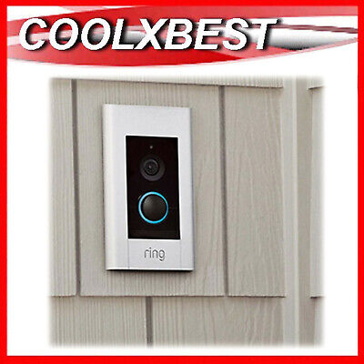 NEW RING ELITE VIDEO DOORBELL SILVER 1080p SECURITY CAMERA PoE WIRED iOS ANDROID