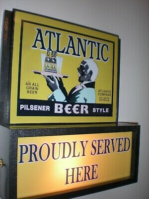 Atlantic Beer Bar Tavern Man Cave Advertising Lighted Sign