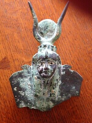 Antique Bronze Egyptian Artifact Depecting A Pharaoh