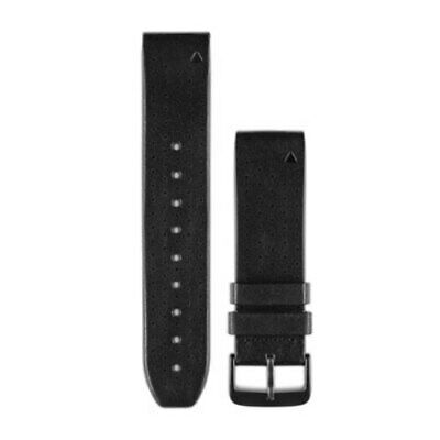 Quickfit 22mm Blk Leather Band - Garmin (010-12500-02)