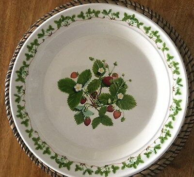 Portmeirion SUMMER STRAWBERRIES Chop Plate (Round Platter) 31CMS Diameter  LOT 2