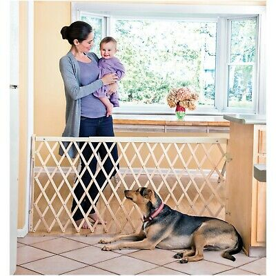 "Infant Baby Pet Gate Safety Expansion Swing Extra Wide Hardware Mount  24""-60"""