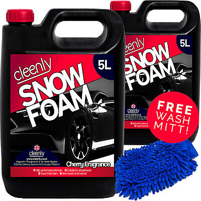 Cleenly Snow Foam Shampoo Car Wash Wax Soap Vehicle 10L Detailing Kit pH Neutral