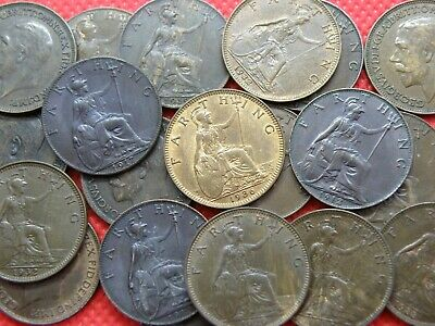 FARTHING COINS -  KING GEORGE V  -  1911 to 1936  -  PICK YOUR COINS !  (OS01)