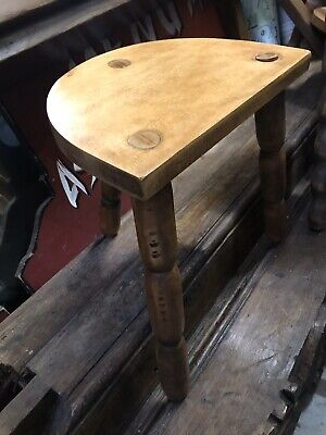 French Vintage Pine Rustic Milking Stool