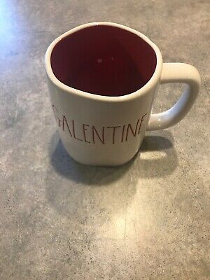 Brand New 2020 Rae Dunn Valentine's Day Galentine with Red Interior Mug