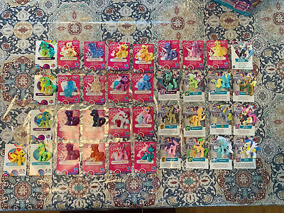 My Little Pony Blind Bag Mini Figures Lot 37 Ponies And Cards Multiple Series!