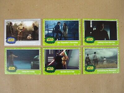 (4) Journey to Star Wars: The Rise of Skywalker SILVER & GREEN PARALLELS - Topps