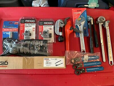 Tool lot ac hvac electrical tubing cutters benders swedgelock wrenches