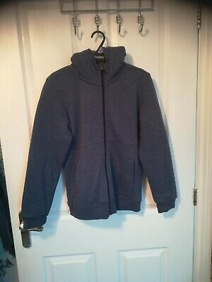 Childs new Blue fleece lined  hooded Jacket, two front pockets Size Age 12/13