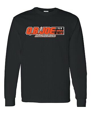 Q B Joe Quarter Back Burrow A Real Ohio Hero LONG SLEEVE Men's Tee Shirt 1375