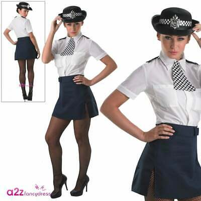 Ladies W.P.C Constable Police Woman Lady Beat Hat Hen Night Costume Accessory