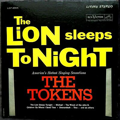 The Tokens The Lion Sleeps Tonight 1961 Nm / Vg++ Rock Doo Wop 1St Press Stereo