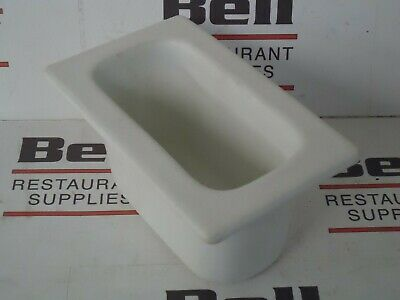 *USED* GET Bugambilia IH1/9D Resin Coated Food Pan - 1/9 Size - White - NSF