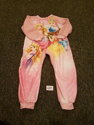Girls Disney Princess Winter All In One Sleepsuits Age 5 Years
