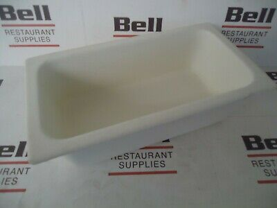 *USED* GET Bugambilia IH1/3D Resin Coated Food Pan - 1/3 Size - White - NSF
