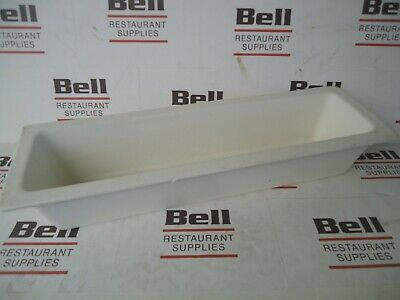 *USED* GET Bugambilia IH2/4D Resin Coated Food Pan - Long 1/2 Size - White - NSF