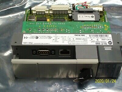 ALLEN BRADLEY PROCESSOR UNIT SER D 1747-L532 with 1747-M13 MEMORY MODULE