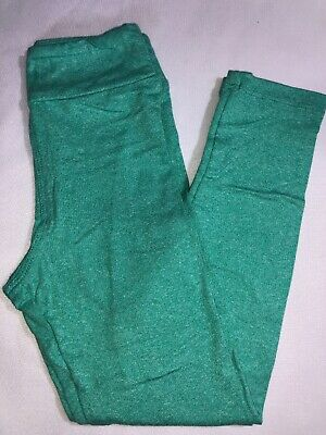 LuLaRoe Kids S/M Leggings NWT Heathered Green Sizes 2-8