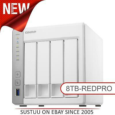 NEW! QNAP TS-431P2-1G 8TB (4 x 2TB WD RED PRO) 4 Bay NAS Unit with 1GB RAM White