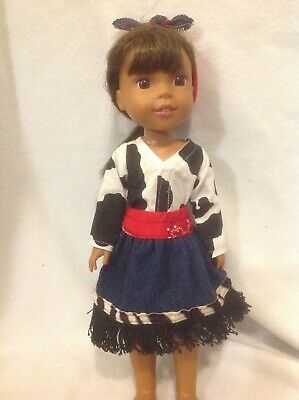 """Debs Halloween BATMAN or BATGIRL Costume Doll Clothes For AG 14/"""" Wellie Wishers"""