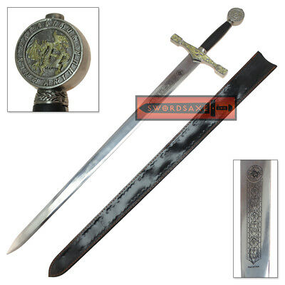 King Arthur Excalibur Replica Sword Steel Medieval Dragon Knight Longsword