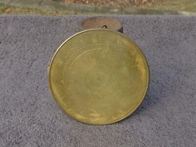 Rear Brass Cover Ansonia French Gilbert Waterbury Statue Shelf Mantle Clock VGC