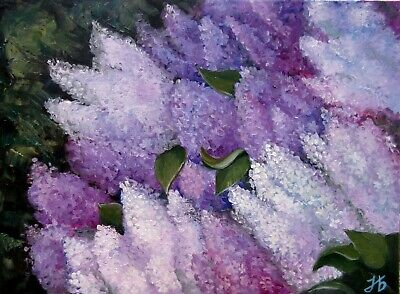 """""""Aroma of lilac"""" 18X24"""" Floral Spring Flovers Original Oil Painting Nadia Bykova"""