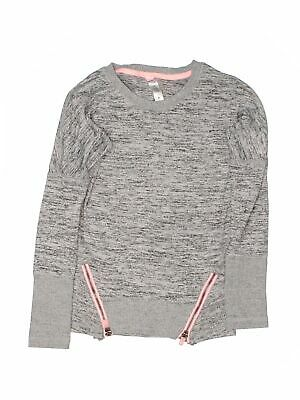 90 Degrees by Reflex Girls Gray Pullover Sweater S Youth