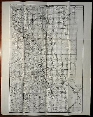 King's Canyon & Sequoia California 1945-50 U.S. Geological Survey detailed map