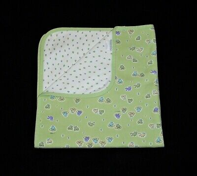Carters John Lennon Emu Namae Baby Receiving Blanket Frogs Green Raindrop Cotton