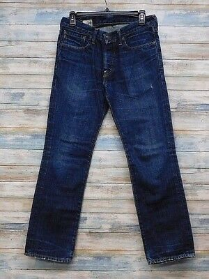 A&F Abercrombie Fitch Jeans 14 x 29 Remsen Slim Straight Button Fly   (J-16)