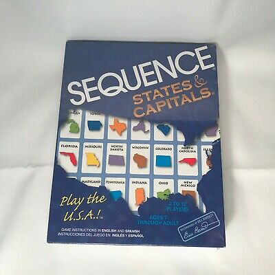 Sequence States and Capitals Game JAX Item 8003 Free Shipping