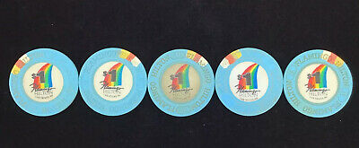 Five FLAMINGO HILTON $1 Casino Chip Las Vegas Nevada Free Shipping