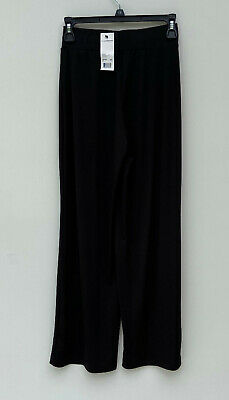 NEW NY Collection Women's Petite Pull-On Wide Leg Pants Black Size PXS