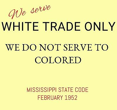 Segregation Jim Crow Sign With A Frame