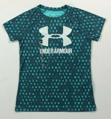 Girl's Youth Under Armour Heat Gear Loose Polyester Shirt