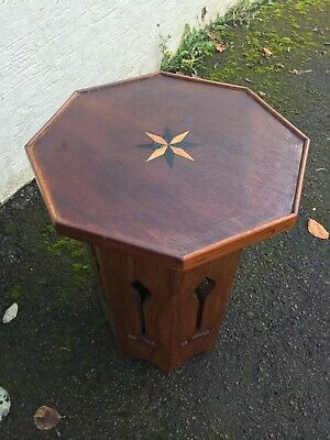 Arts and Crafts ?Octagonal Inlayed Side Table