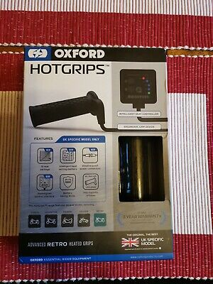 Oxford Motorbike Motorcycle EL693UK Hotgrips Advanced Retro Uk Specific
