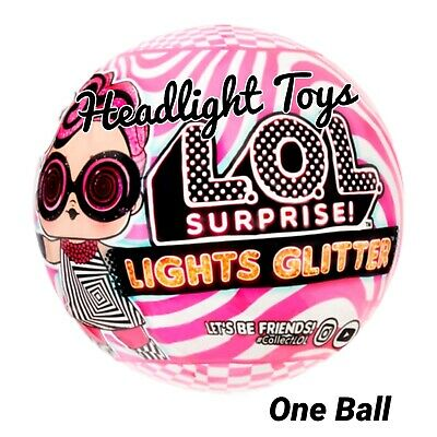 LOL Surprise Lights Glitter Series Ball Tots Doll Black Light Neon 2020 In Hand