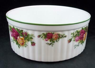 """Royal Albert OLD COUNTRY ROSES BAKEWARE 7"""" Souffle A+ CONDITION"""