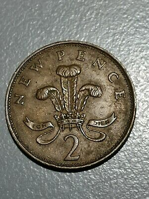 Rare 1971 NEW PENCE 2p British Elizabeth II  Coin First Release-1971