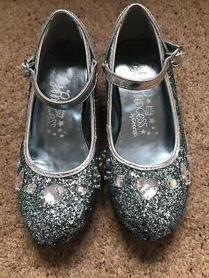 Girls Pretty Princess Sparkly Party Shoes Size13 By George