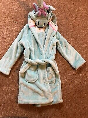 M&S Marks And Spencer Girls Unicorn Dressing Gown - Age 4-5 Years