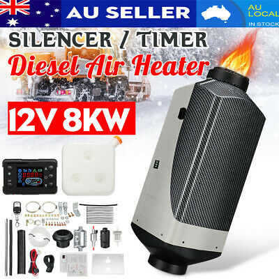 AU Diesel Air Heater LCD Remote Control Thermostat  12V 8KW For Trucks Motorhome